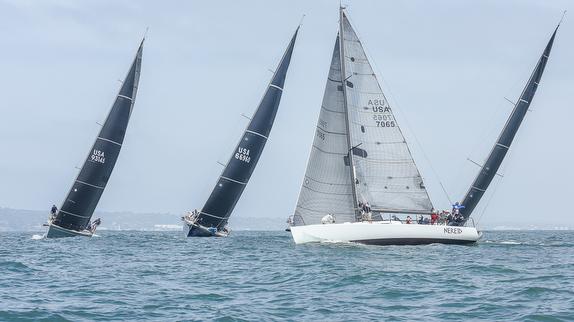 J/125 sailing off San Diego, CA