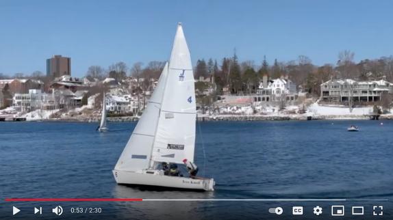 J/22 sailing off Nova Scotia