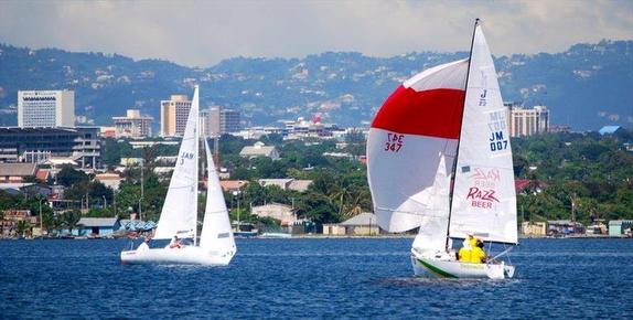 J/22s sailing off Montego Bay, Jamaica