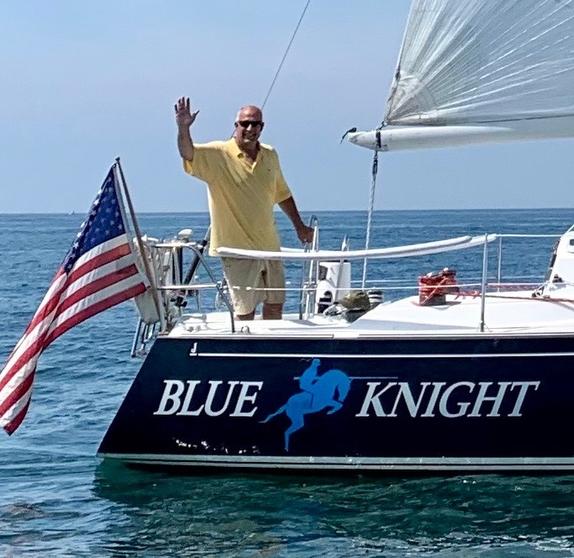 Hank Stuart sailing his J/35c offshore