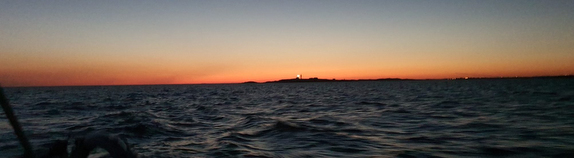 midnight twilight all day long sailing offshore