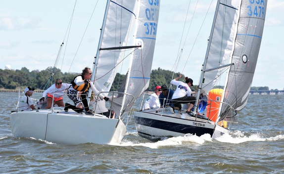 J/24s sailing on Chesapeake Bay