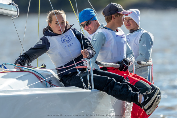 J/70 women sailing Finland