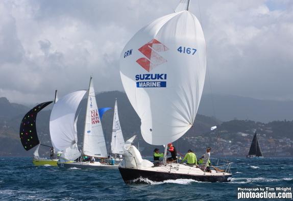 J/24s off Grenada