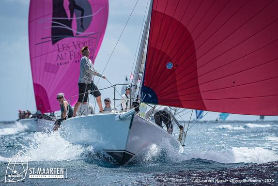 J/105 sailing St Maarten Regatta