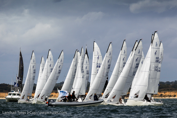 J/70s at J/Cup regatta on Solent, England