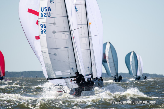 J/70s sailing off Annapolis, MD- Chesapeake Bay