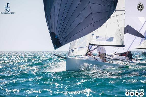 J/70s sailing offshore Australia