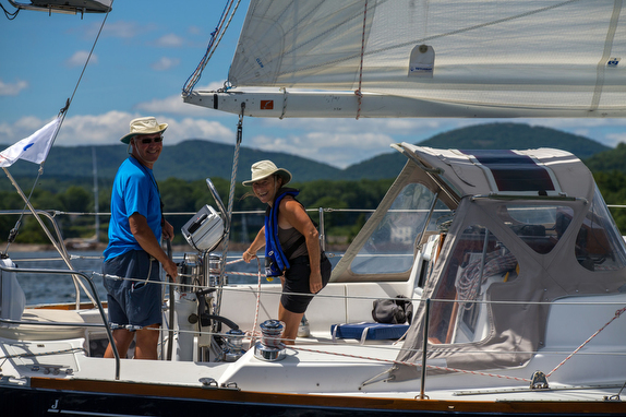J/34c Astrea owners sailing in Maine