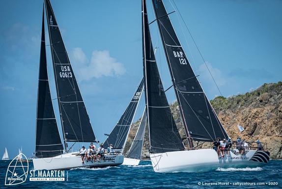 J/121 sailing St Maarten Heineken Regatta