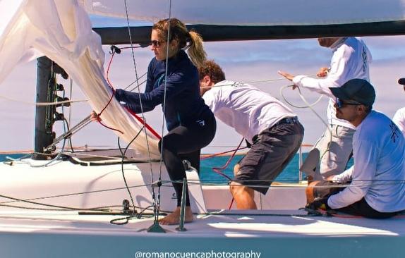 J/70 sailing off Argentina