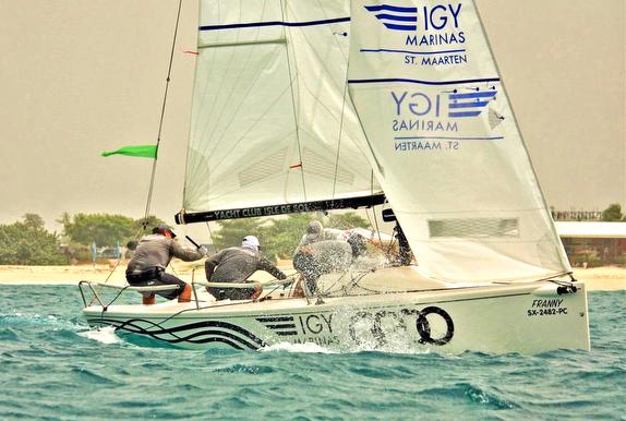 J/70 sailing upwind off St Maarten