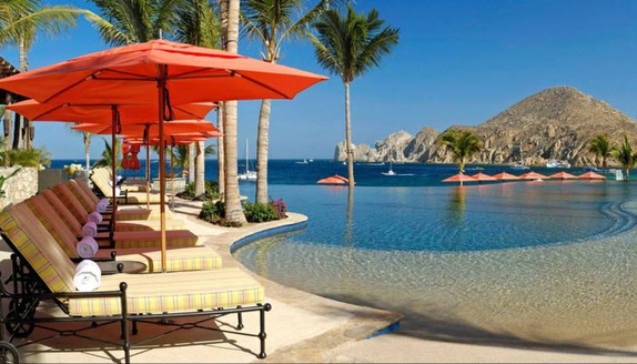 """The Cabo Race """"finish line""""- the bar and pool!"""