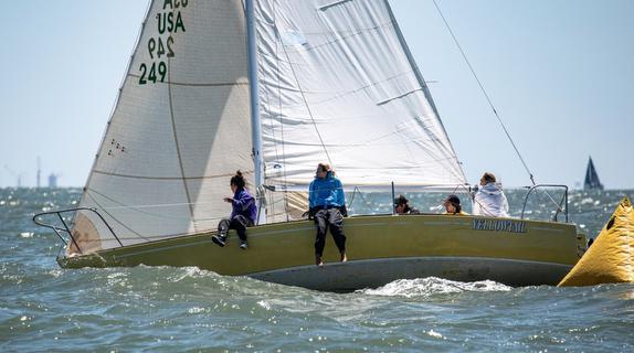 J/24 sailing off St Petersburg NOOD