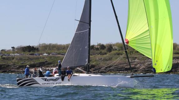 J/121 Whistler sailing offshore