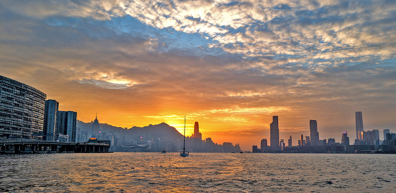 Hong Kong Round Island race sunset