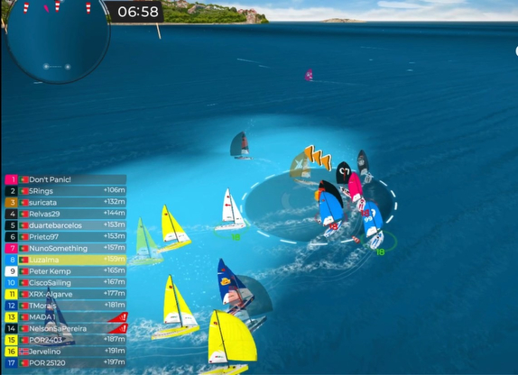 J/70s sailing Virtual Regatta