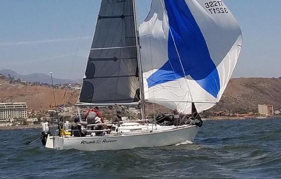 J/29 sailing Newport to Ensenada Race