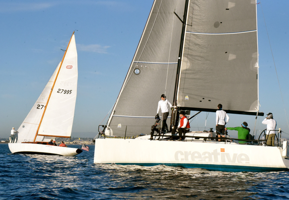 J/111 sailing off San Diego, CA