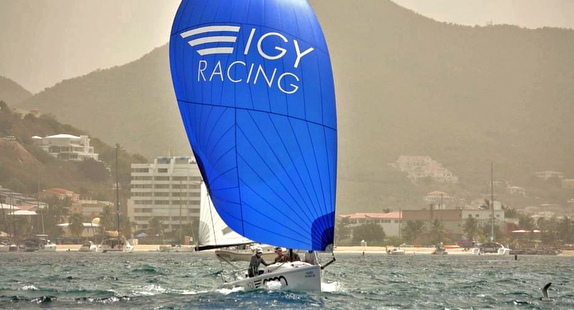 J/70 sailing off St Maarten