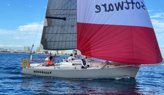 J/92 sailing off Miami, FL