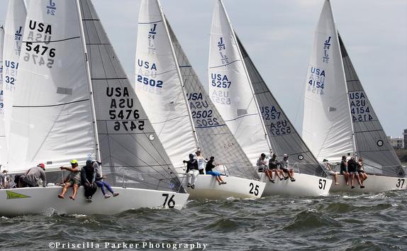 J/24 sailboats off start