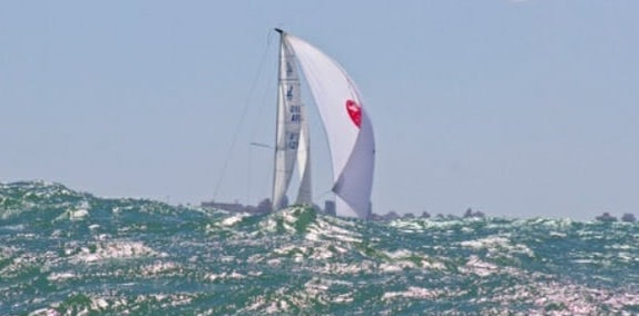 J/70 sailing off Buenos Aires, Argentina