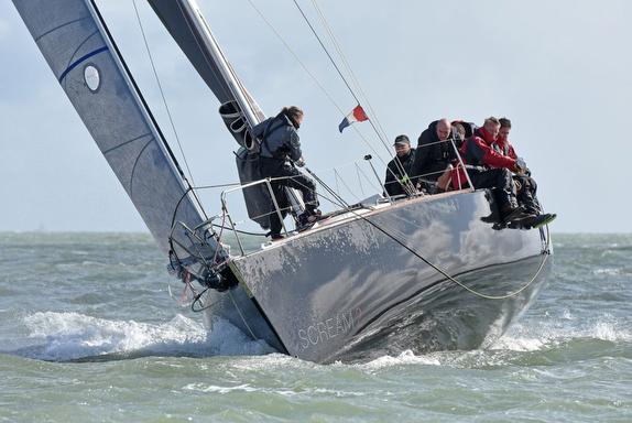 J/120 sailing on Solent, England