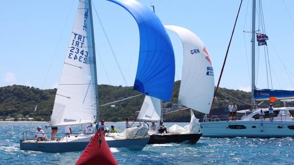 J/24s sailing Grenada