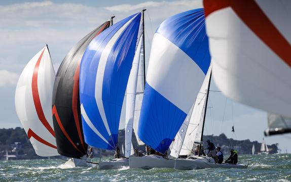 J/70s sailing at J/Cup