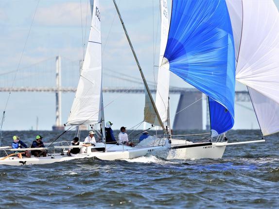 J/80s sailing on Chesapeake Bay