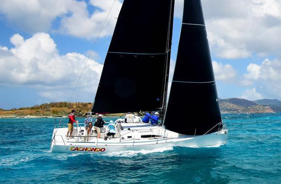 J/111 sailing off St Thomas, USVI