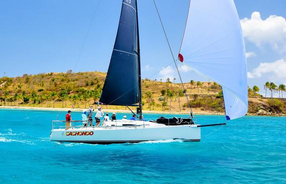 J/111 sailing St Thomas, USVI