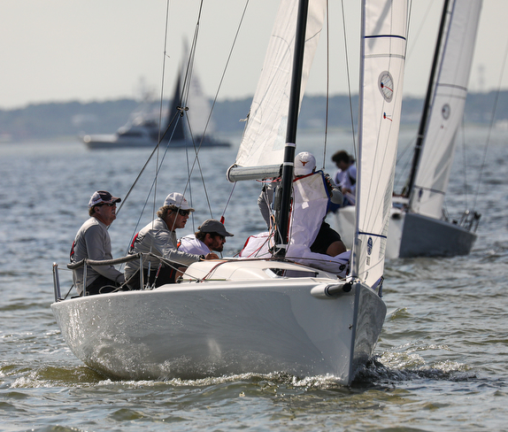 J/70 sailing off Houston, Texas