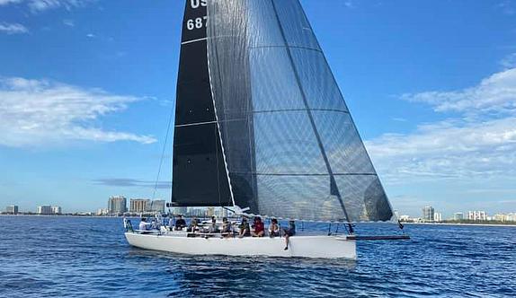 J/121 sailing off Fort Lauderdale, FL