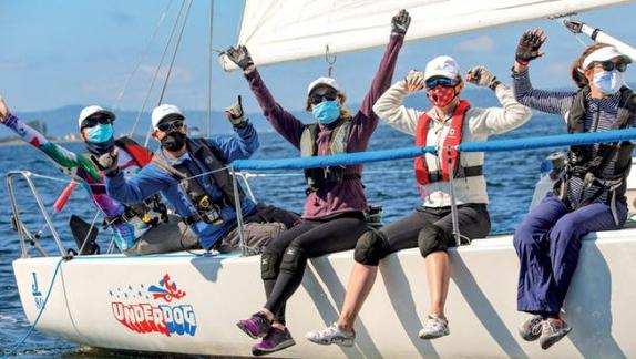 J/80 women sailing
