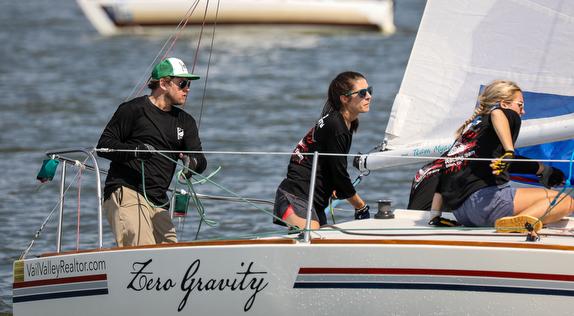 J/24 crew sailing J/Fest Houstonq