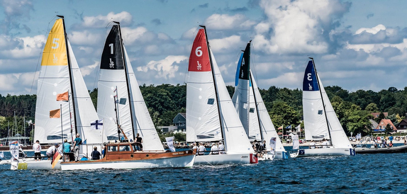 J/70 sailing in Kiel, Germany