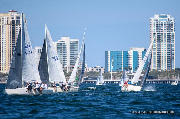 J/24s sailing St Petersburg, FL