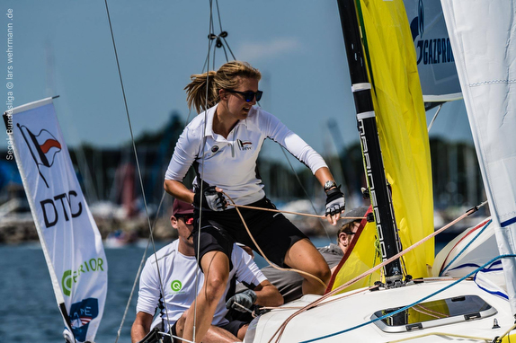 J/70 women sailor- German Sailing League