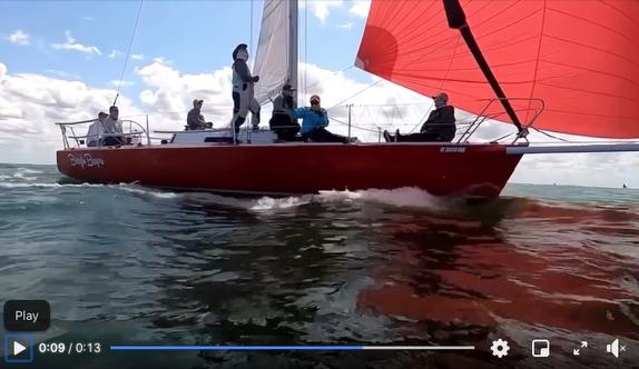 J/105 sailing video
