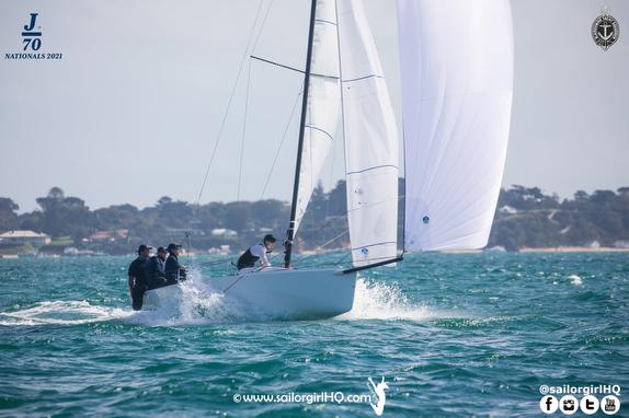 J/70s sailing off Australia