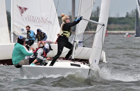 J/22 sailboats sailing Charleston Harbor