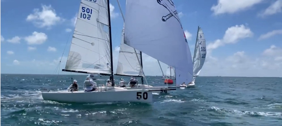 J/70 sailing off Miami, FL