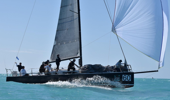 J/111 sailing off Key West
