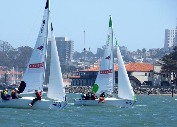 J/22s match racing San Francisco
