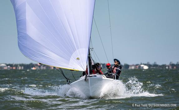 J/70 sailing on Tampa Bay