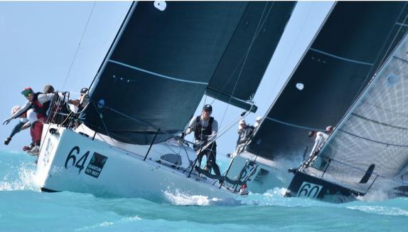 J/111's sailing at Key West