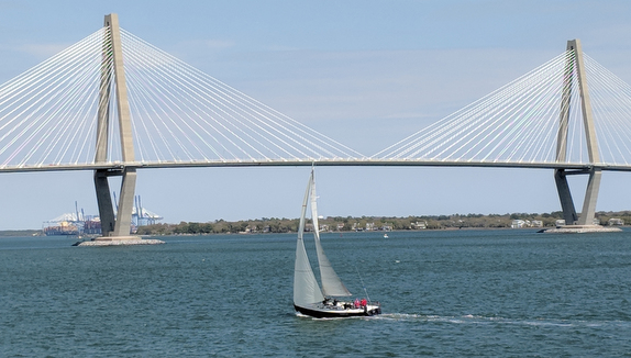 J/130 sailing off Charleston, SC