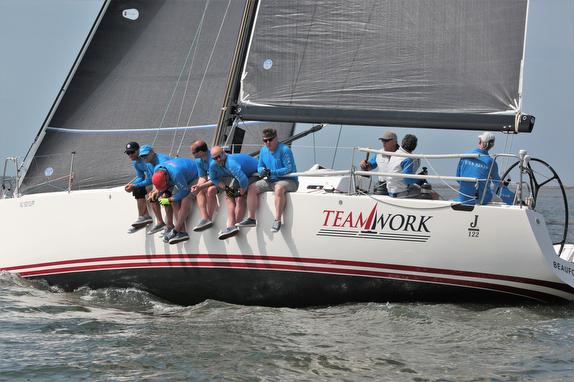 J/122 Teamwork sailing on Charleston Harbor, SC